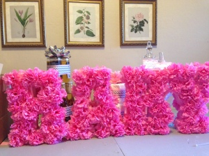 Simply BaByQ Party Centerpiece